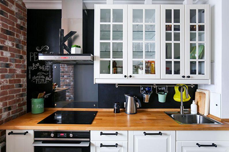 Фартук для кухни в стиле лофт - фото
