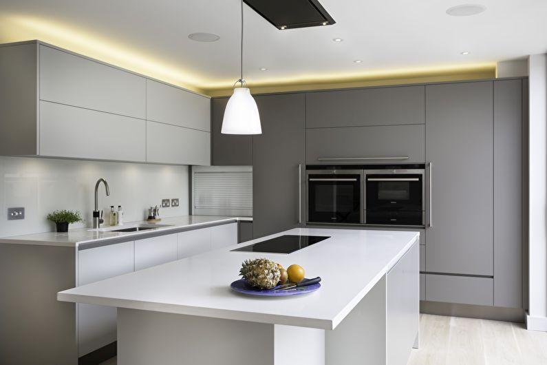 5fba90429ce8 Дизайн кухни в стиле минимализм  60 фото, минималистичная кухня ...