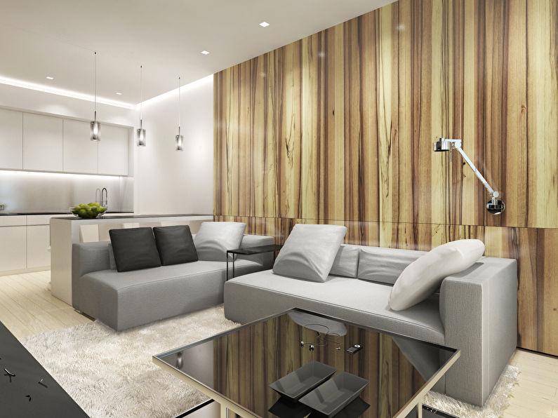 Дизайн интерьера однокомнатных квартир 40 кв.м 936