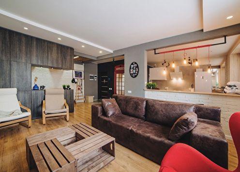 Loft 40x40: Квартира для молодой пары, 70 м2