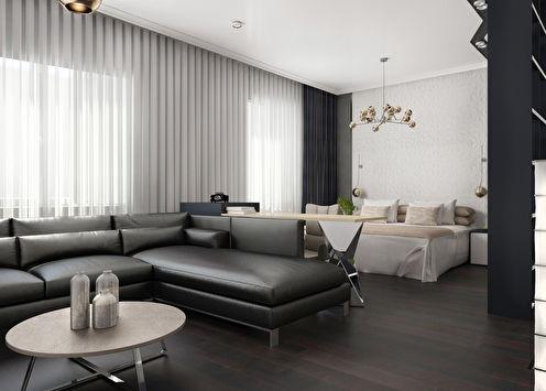 «Black&White»: Квартира-студия 52 кв.м.