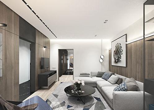Дизайн квартиры в стиле минимализм, г. Домодедово