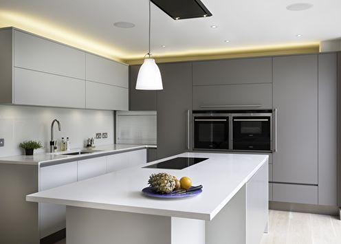 Дизайн кухни в стиле минимализм: 60 фото интерьеров