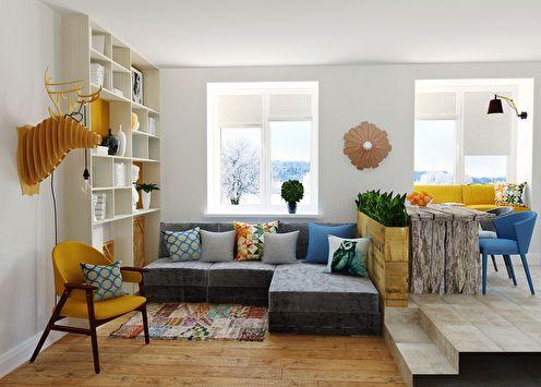 Интерьер 2-х комнатной квартиры, 58 кв.м.