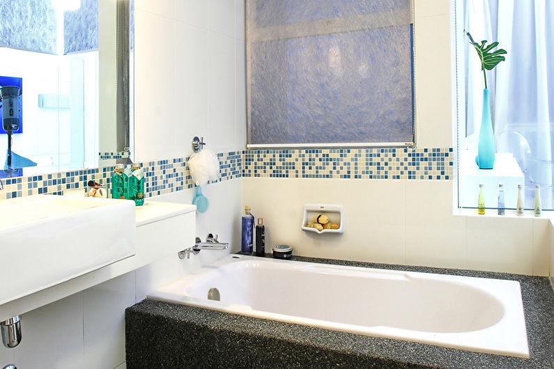 Дизайн узкой ванной комнаты - Отделка стен