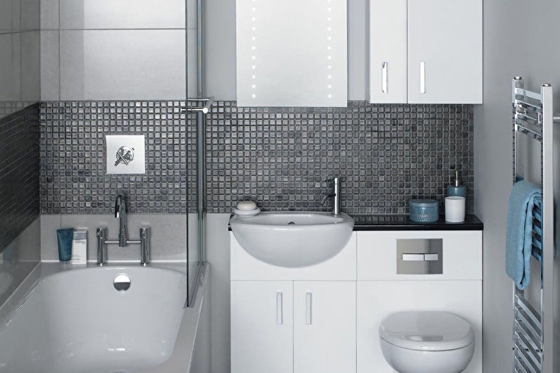 Дизайн узкой ванной комнаты - Сантехника