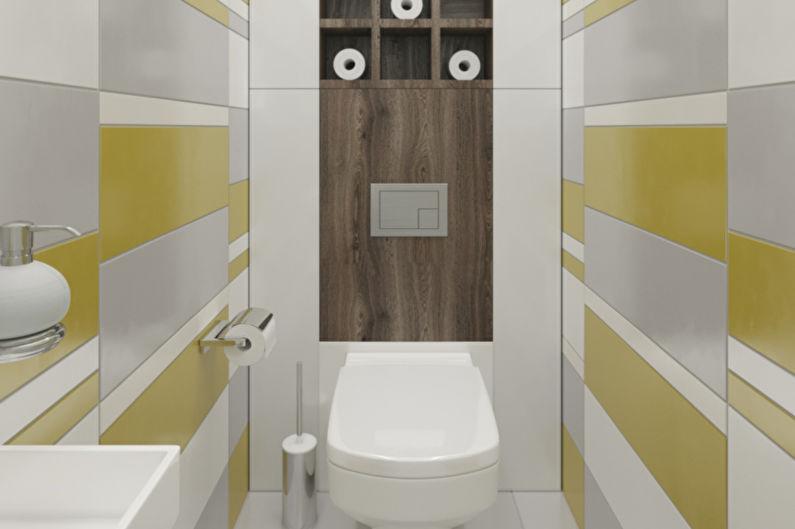 Дизайн узкой ванной комнаты - Системы хранения
