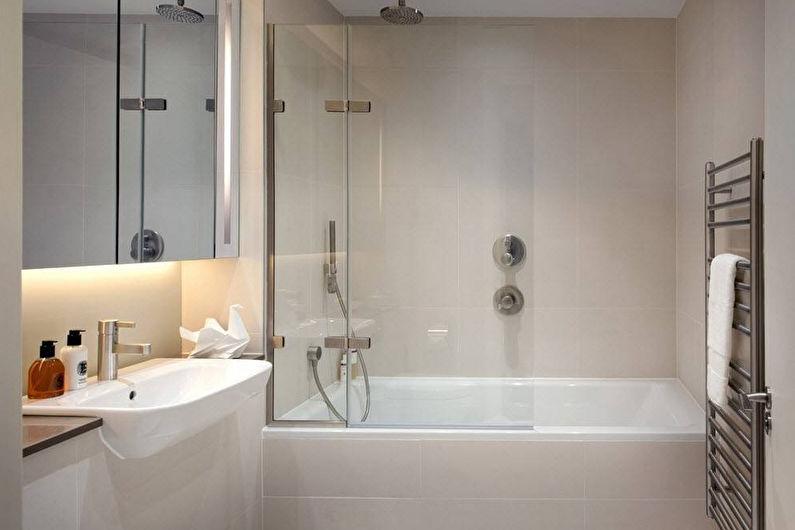 Дизайн узкой ванной комнаты - Освещение и подсветка
