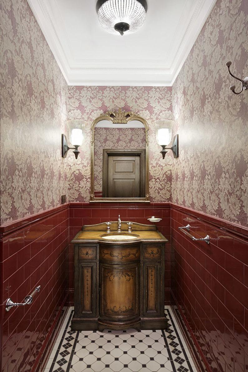 Дизайн интерьера узкой ванной комнаты - фото