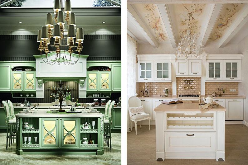 Кухня с островом в классическом стиле - Дизайн интерьера