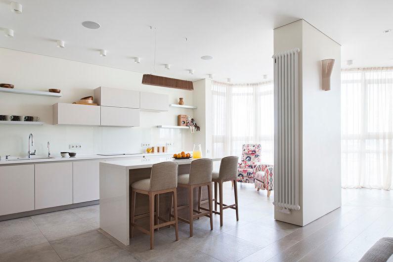 Кухня с островом в современном стиле - Дизайн интерьера