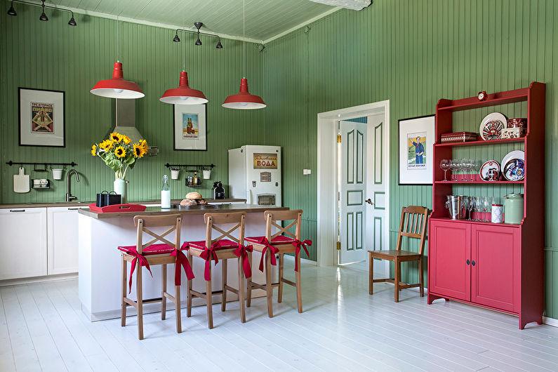Кухня с островом в стиле прованс - Дизайн интерьера