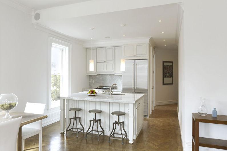 Маленькая кухня с островом - Дизайн интерьера