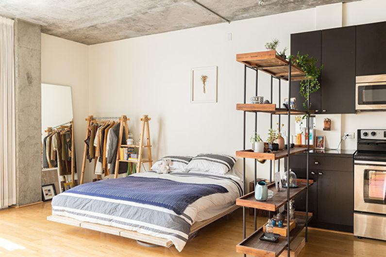 Дизайн спальни в стиле лофт - Особенности