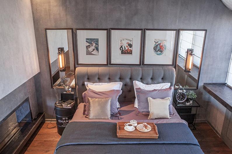 Дизайн спальни в стиле лофт - Отделка пола