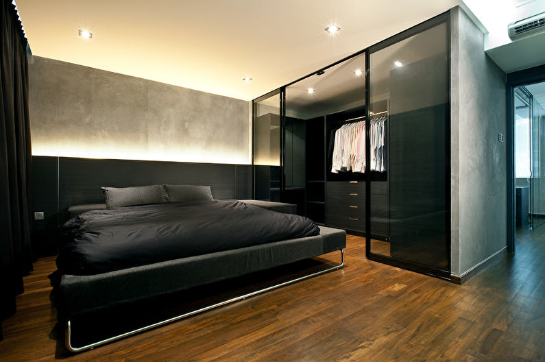Дизайн спальни в стиле лофт - Отделка потолка