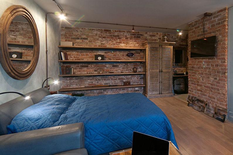 Дизайн спальни в стиле лофт - Мебель