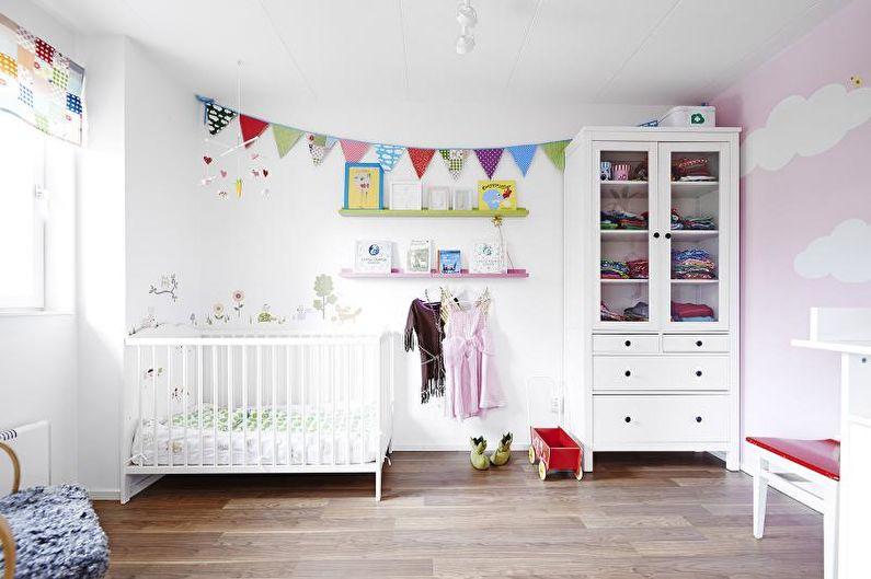 Сочетания цветов в интерьере детской комнаты - Нейтральный фон и акценты