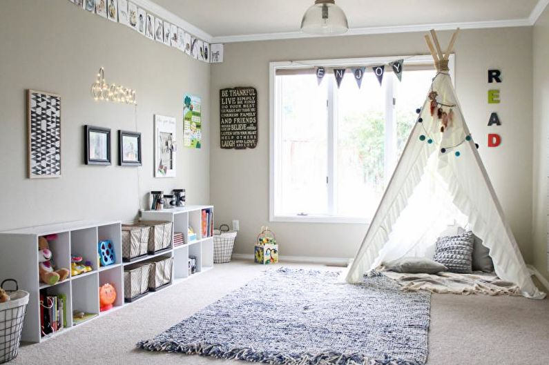 Сочетание цветов в интерьере детской комнаты - фото