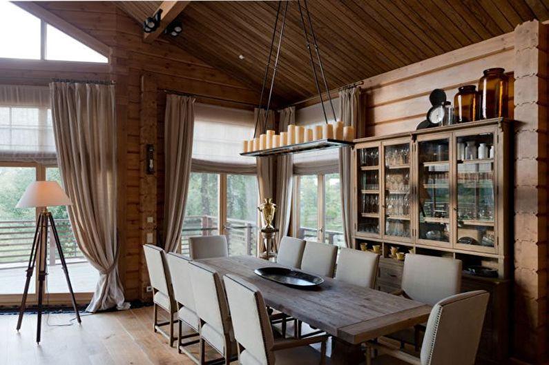 Коттедж или загородный дом в стиле шале - Дизайн интерьера