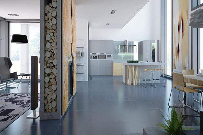 Коттедж или загородный дом в современном стиле - Дизайн интерьера