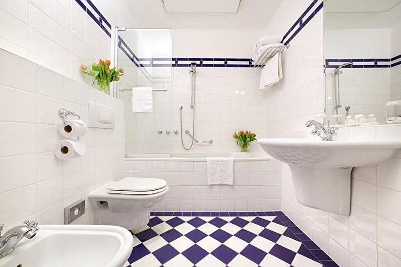 Сочетания цветов в интерьере ванной комнаты - Белая ванная комната