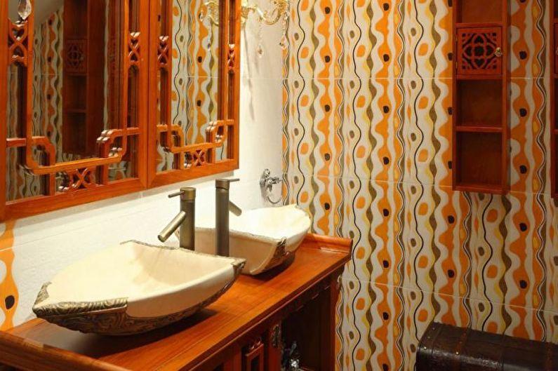 Сочетания цветов в интерьере ванной комнаты - Теплые тона