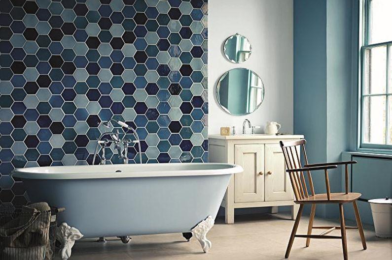 Сочетания цветов в интерьере ванной комнаты - Холодные тона