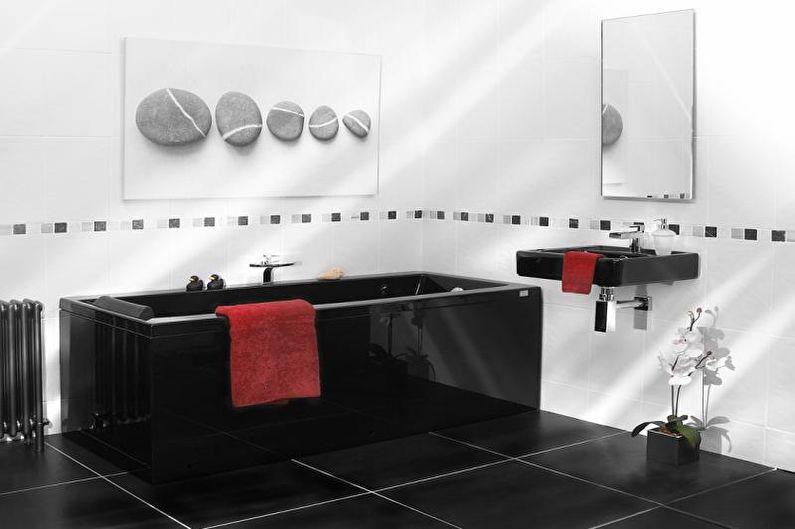 Сочетания цветов в интерьере ванной комнаты - Контрастные оттенки