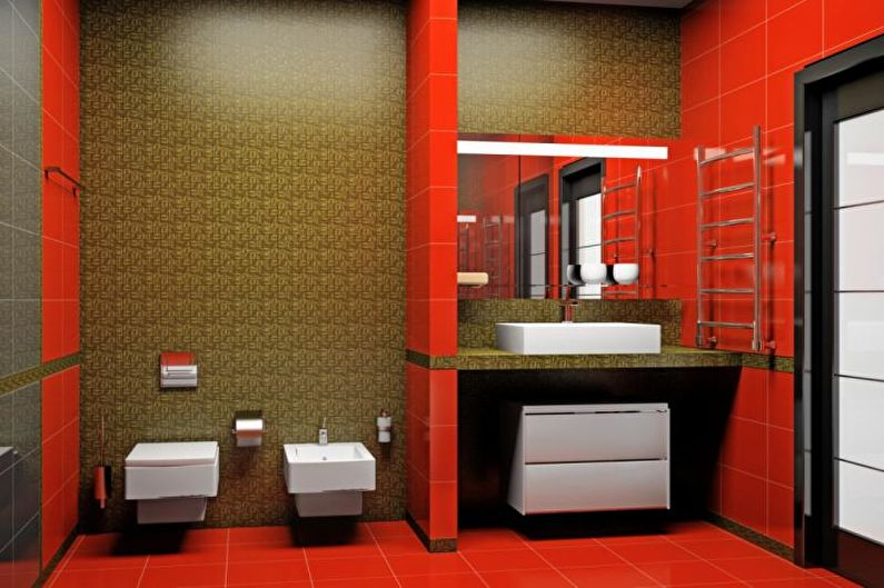 Сочетание цветов в интерьере ванной комнаты - фото