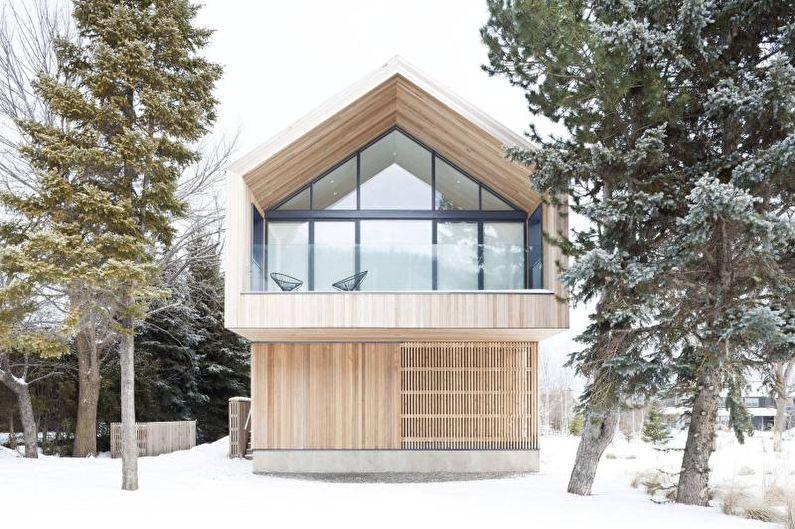 Фасад загородного дома в скандинавском стиле - фото