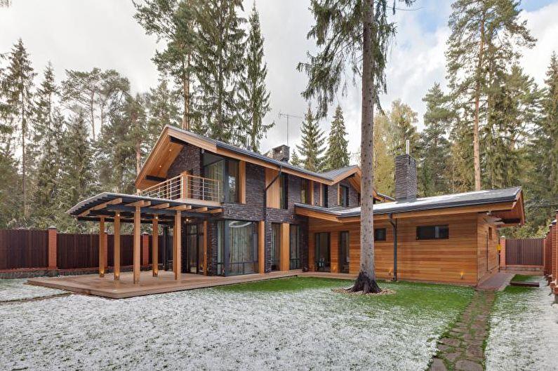 Деревянный загородный дом в скандинавском стиле - фото