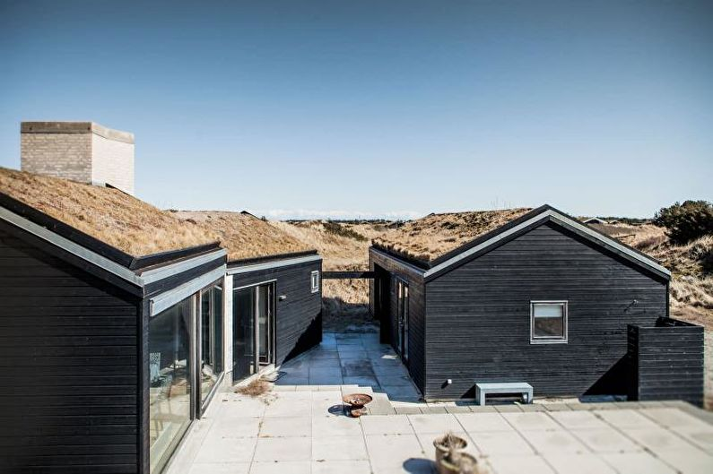 Кровля для загородного дома в скандинавском стиле - фото