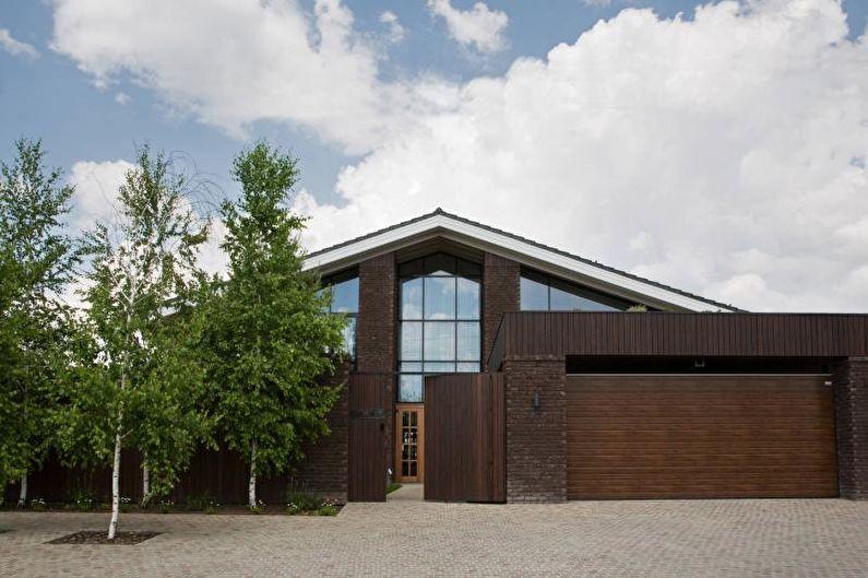 Загородный дом в скандинавском стиле - Окна и двери