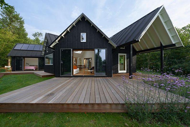 Крыльцо для загородного дома в скандинавском стиле - фото