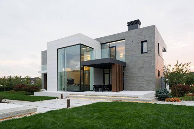 Плоская крыша для частного дома - фото