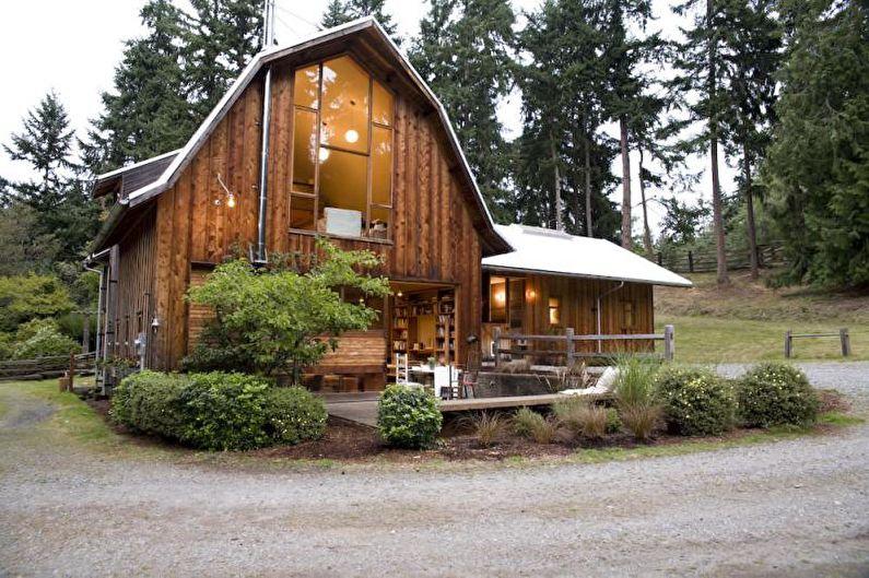 Мансардная крыша для частного дома - фото