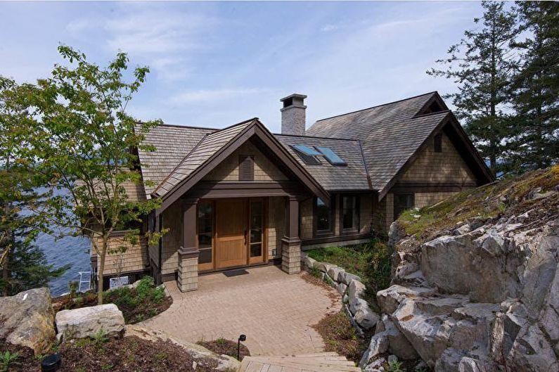 Многощипцовая крыша для частного дома - фото