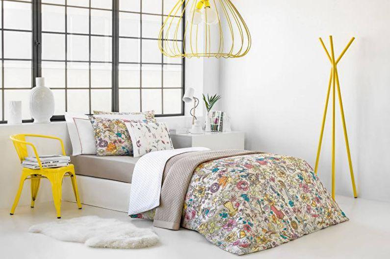 Белая спальня - Дизайн интерьера 2018