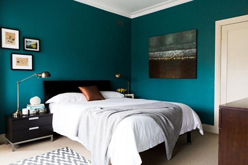 Сине-зеленая спальня - Дизайн интерьера 2018
