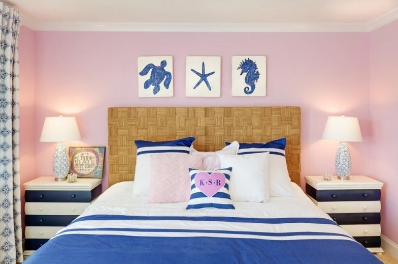 Розовая спальня - Дизайн интерьера 2018