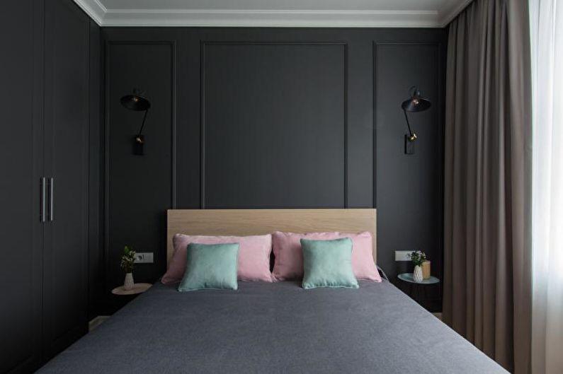 Черная спальня - Дизайн интерьера 2018