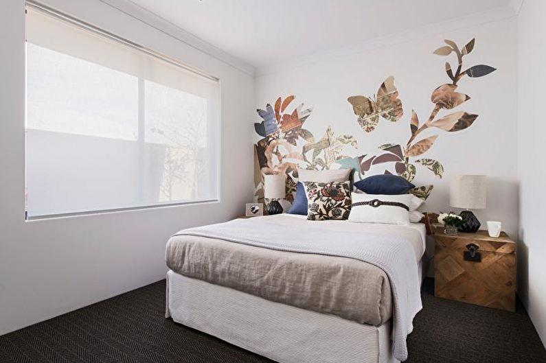 Дизайн спальни 2018 - Отделка стен