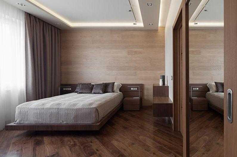 Дизайн спальни 2018 - Отделка потолка