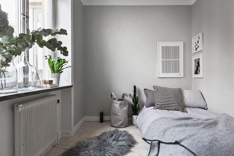 Дизайн интерьера маленькой спальни 2018