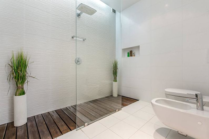 Белая ванная комната - Дизайн интерьера 2018