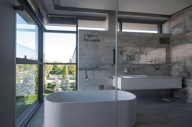 Серая ванная комната - Дизайн интерьера 2021