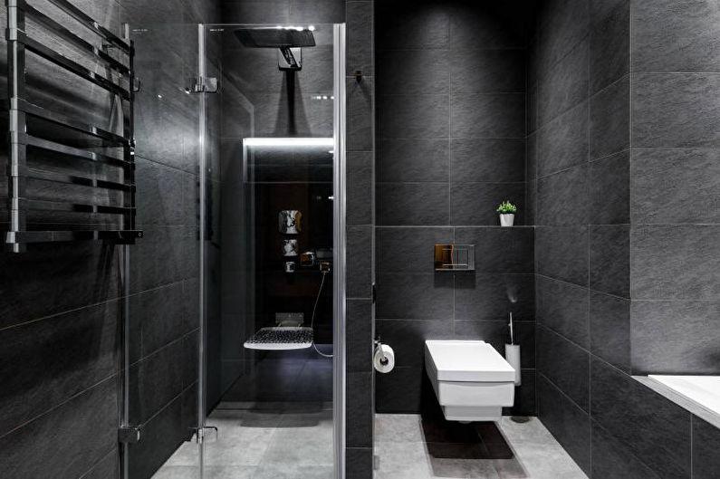 Серая ванная комната - Дизайн интерьера 2018