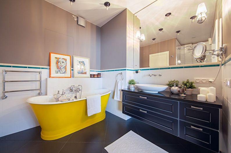 Желтая ванная комната - Дизайн интерьера 2021