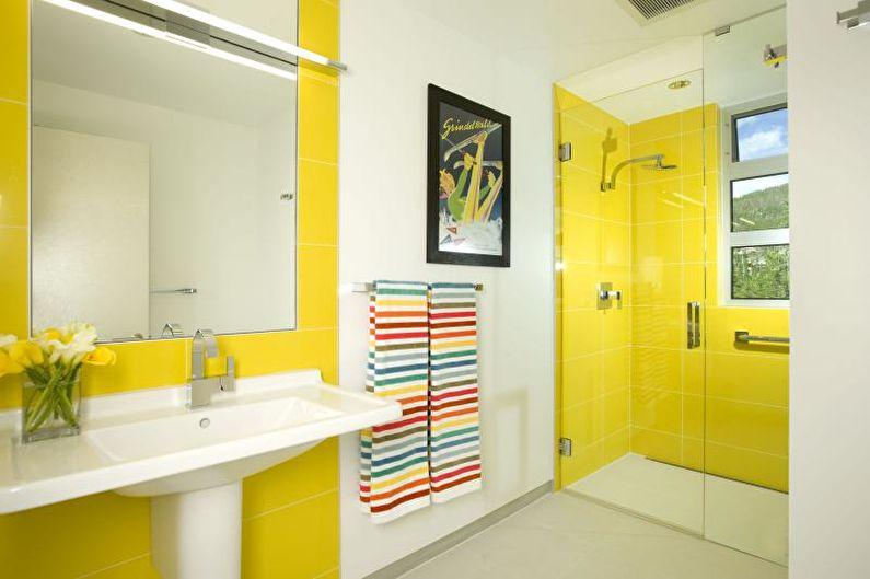Желтая ванная комната - Дизайн интерьера 2018